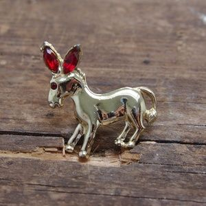 Ruby Red Donkey! Mix & Match Brooch Sale 3 for $15